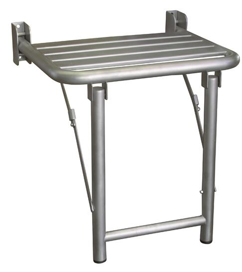 Nofer 15045.S Folding Shower Seat with Floor Support Stainless ...