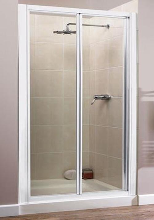 Awesome White Bi Fold Shower Door Photos Exterior Ideas