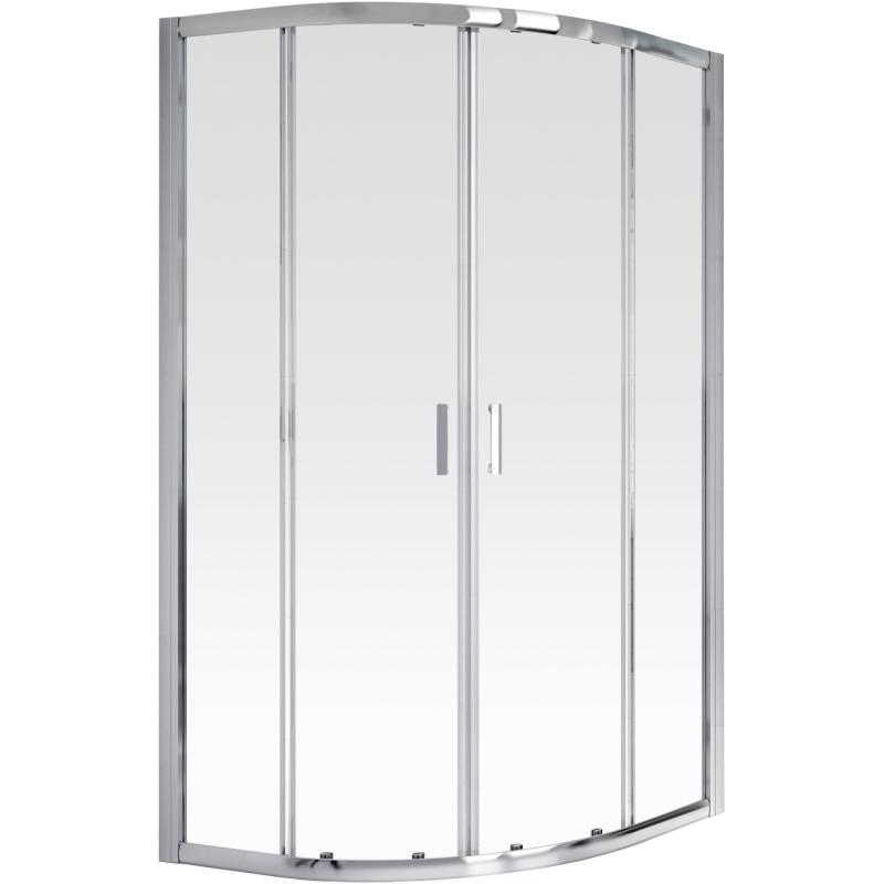 Aqualux FEN0977AQU Off-Set Quadrant Shine Shower Door Enclosure ...